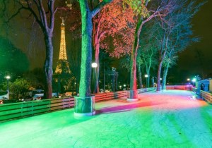 2020 Ice Rink in the Trocadero Gardens