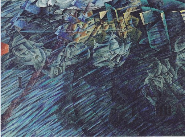 The Wayfarers by Umberto Boccioni