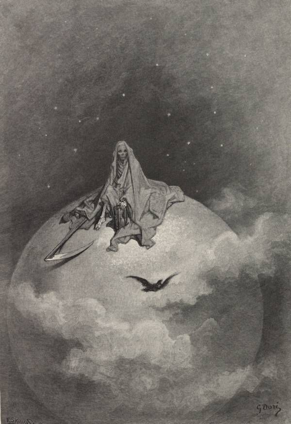 Scene from The Raven, Gustav Doré