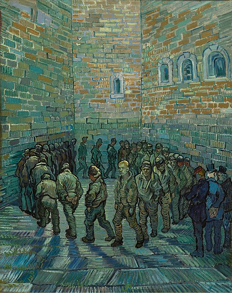 The Prison Courtyard, Vincent van Gogh