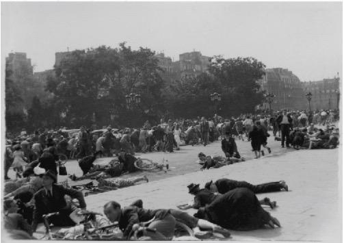 Parisians Take Cover