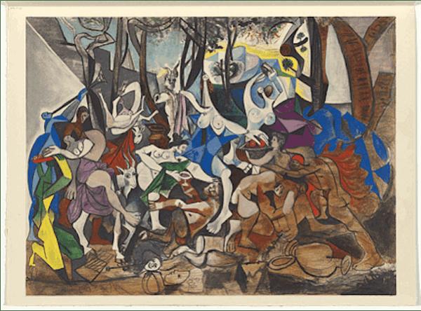 La Bachanale, Pablo Picasso, 1944