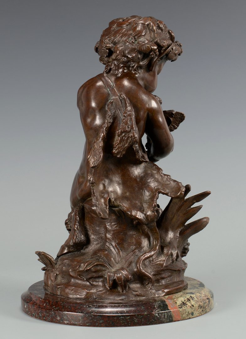 Lot 219 Bronze Child Satyr Sculpture