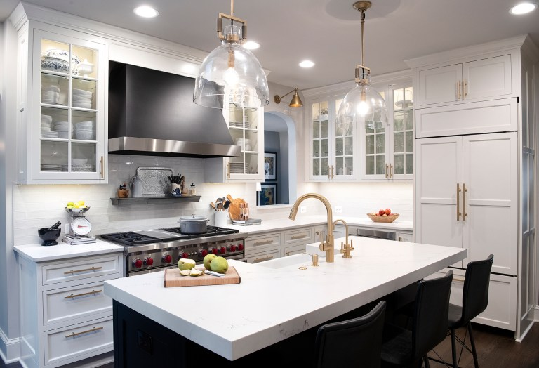 best maryland remodeler kitchen with ceiling mount vent hood and white glass front kitchen cabinets