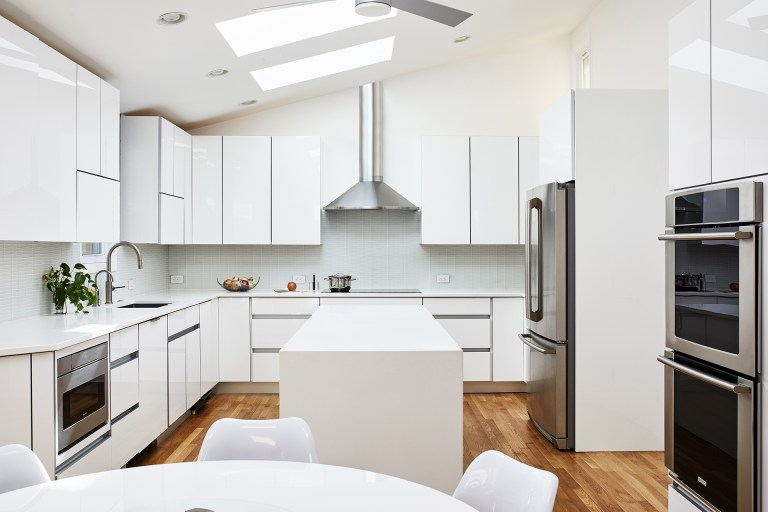 best maryland home remodeler white modern kitchen