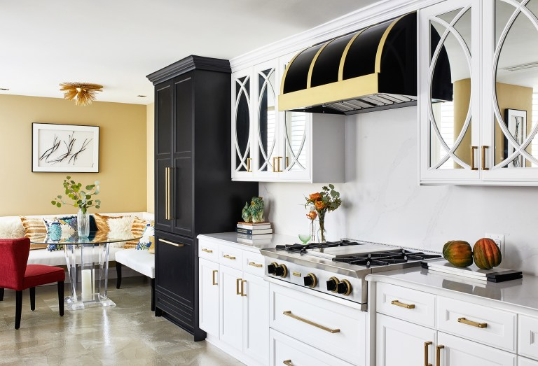 case design remodeling kitchen with black pull cabinet with matching range hood and stove top