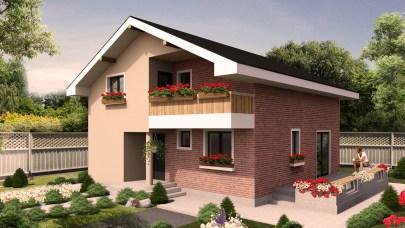Proiect de casa cu mansarda 121mp utili