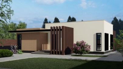 Proiect casa cu doua dormitoare