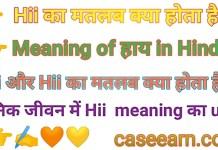 Hii हाय का मतलब क्या होता है ? Hi Ka Matlab Hindi Mein Kya Hota Hai .
