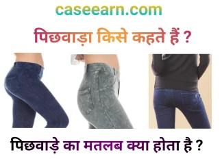 Pichwada kise kahate hain ? पिछवाड़ा किसे कहते हैं? पिछवाड़ा Pichhvadha Meaning Hindi