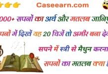 सपनों का मतलब क्या है, उनका फल   Sapno Ka Matlab Fal in hindi . swapna vichar lal kitab . swapna phal in hindi . इसका मतलब क्या होता है