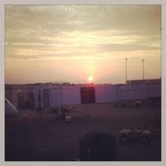 Sunrise at Louisville International Airport
