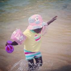 Hellen likes the water