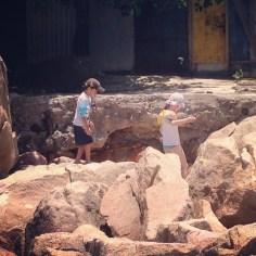 Ez & Jav rock climbing