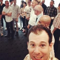 Selfie during team building