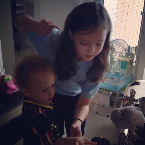 Kid's with Ms. Wendy's Bird