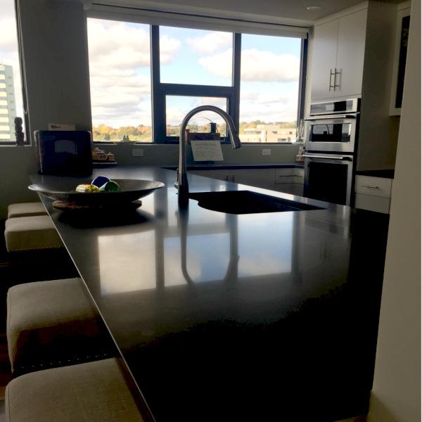 dartmouth condo kitchen remodel custom kitchen black quartz counter tops