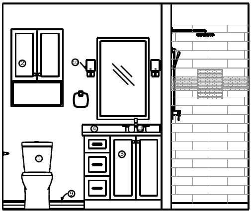 elevation drawings bathroom remodel case design halifax