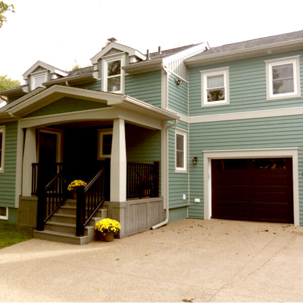 new addition front entry, cape cod porch garage and second story master suite