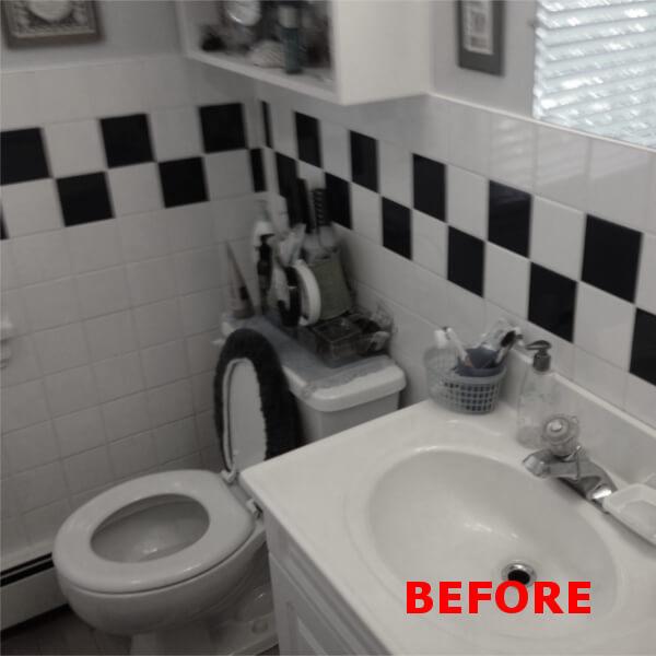 Before photo bathroom renovation
