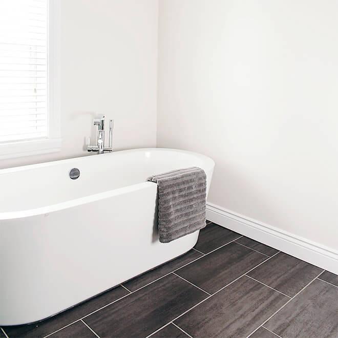 Soaker tub slate tiles Halifax North End Bathroom Remodel