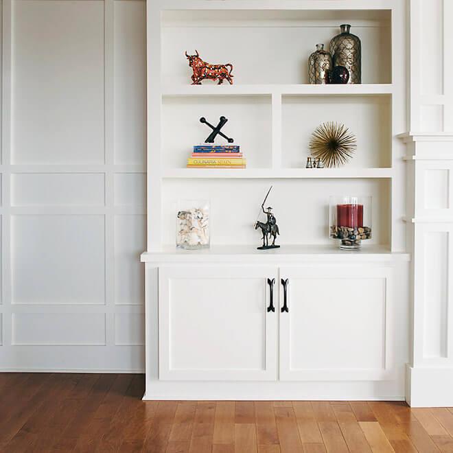 condo remodel bookshelf design