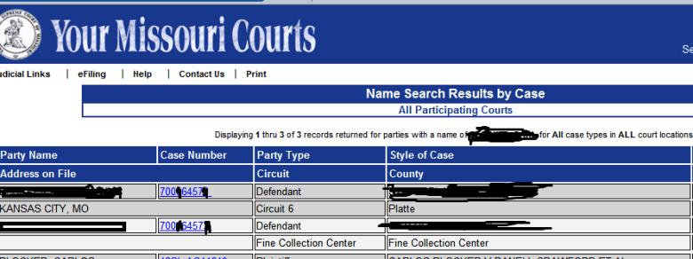 Case Net hiding public records