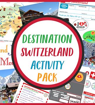Destination Switzerland Activity Pack CASE OF ADVENTURE