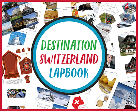 Destination Switzerland Lapbook CASE OF ADVENTURE