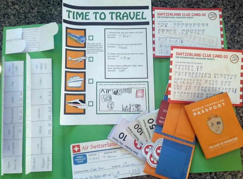 Destination Switzerland Lapbook - CASE OF ADVENTURE