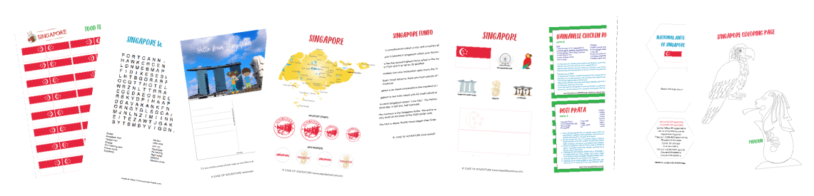 FREE Singapore Printables - Case of Adventure .com