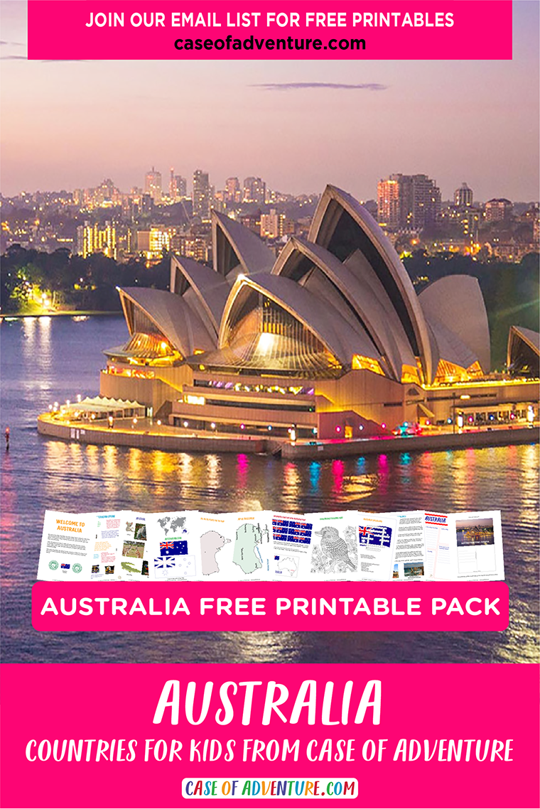 Australia FREE Pack from CASE OF ADVENTURE