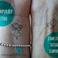Come fare un tatuaggio temporaneo * DIY temporary tattoo