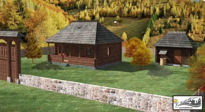Case de lemn in stil traditional romanesc usor accesibile