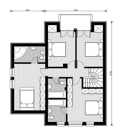 Proiecte de case mici cu mansarda pentru toti