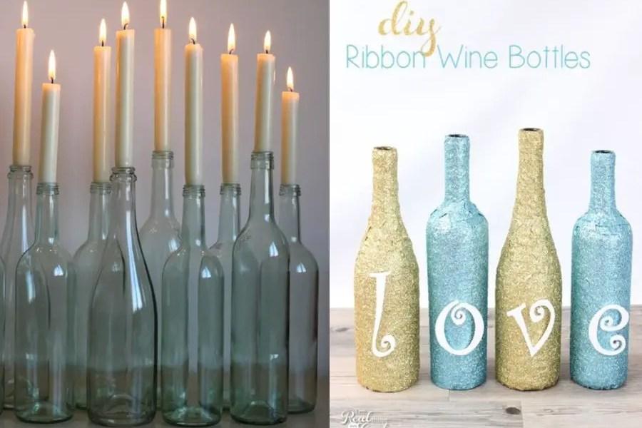 Idei creative de refolosire a sticlelor de vin acasa