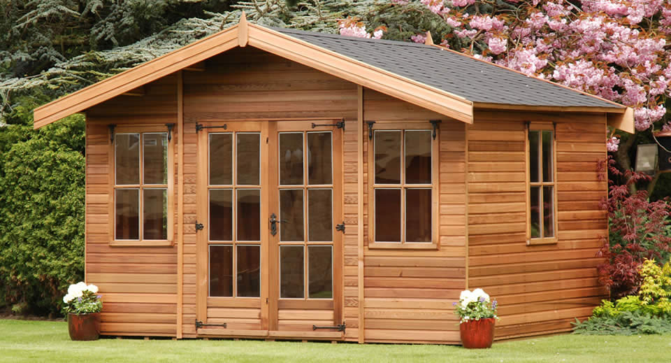 Casute de gradina din lemn refugiul in natura - Garden summer house design ideas ...