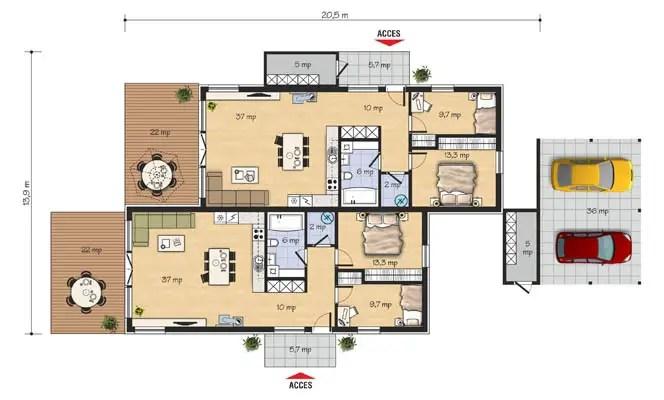 Proiecte de case duplex la oras