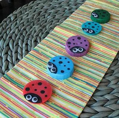 Ce poti face cu dopurile de plastic de la PET-uri plastic bottle caps crafts ideas 5