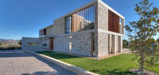 Proiecte de case din piatra elegante