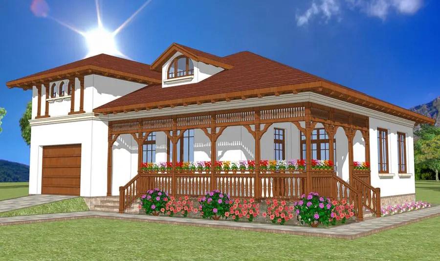 Proiecte de case in stil neoromanesc traditional