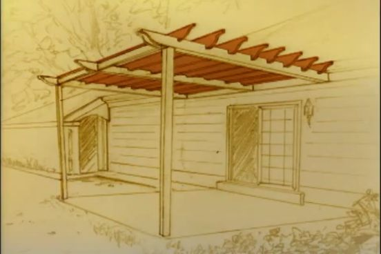 Constructia unei pergole pe terasa