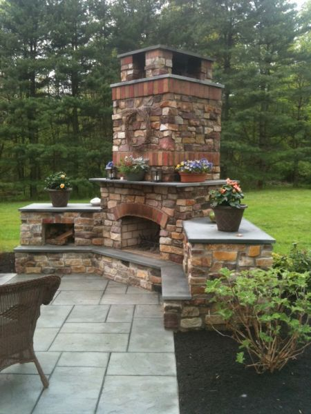 outdoor patio fireplace How to build an outdoor brick oven