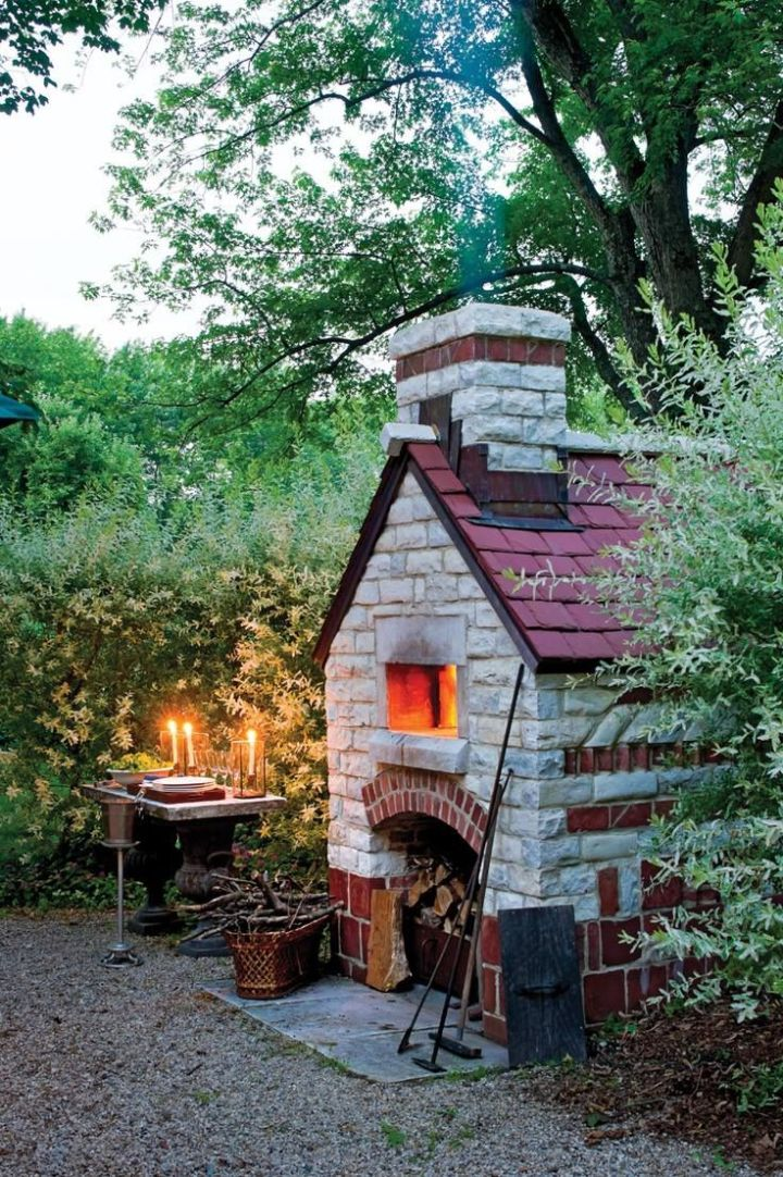 constructia unui gratar de gradina How to build an outdoor brick oven 8