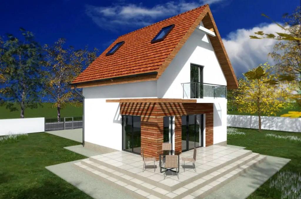 Proiecte de case mici cu etaj la oras