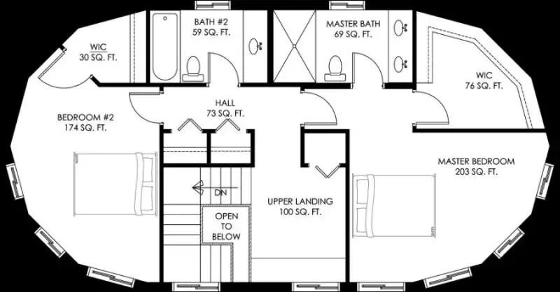 Proiecte de case rotunde forme din natura for Long shaped house plans