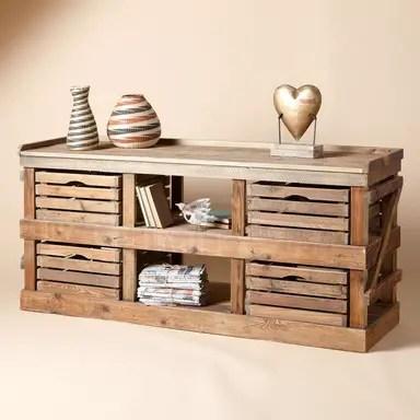 Modele de comode TV din lemn refolosit acasa