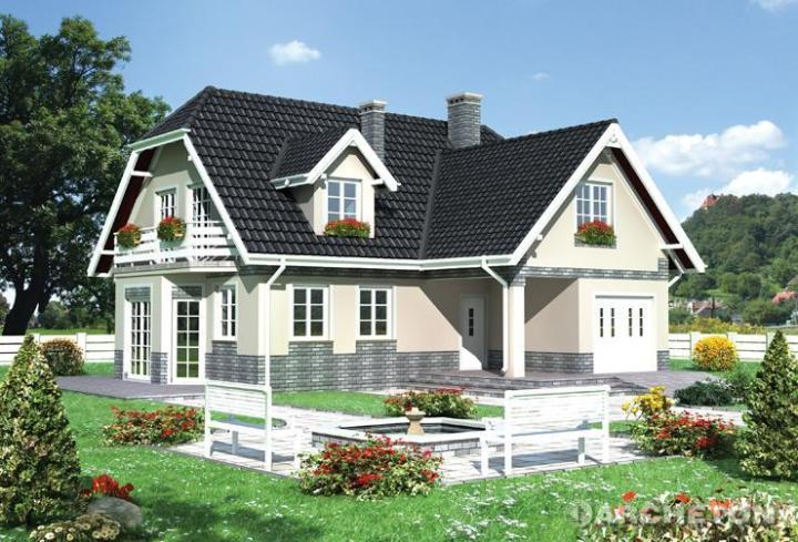 Proiecte de case cu mansarda in forma de L foarte spatioase