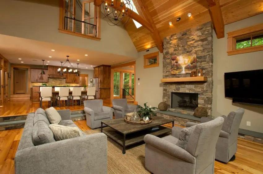 Family Room Decorating Ideas Corner Fireplace