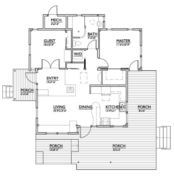 Proiecte de case cu amprenta de 80 mp 800 square feet house plans 3